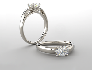 Oval engage ring