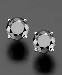 Black Night Diamond Earrings
