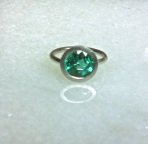 Emerald & Platinum Ear Jewelry