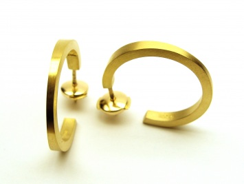 Gold Wedge Hoop Earrings