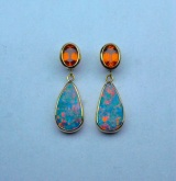 Fire In The Sky Opal Earrings