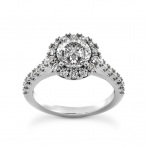 Classic Diamond Halo Ring
